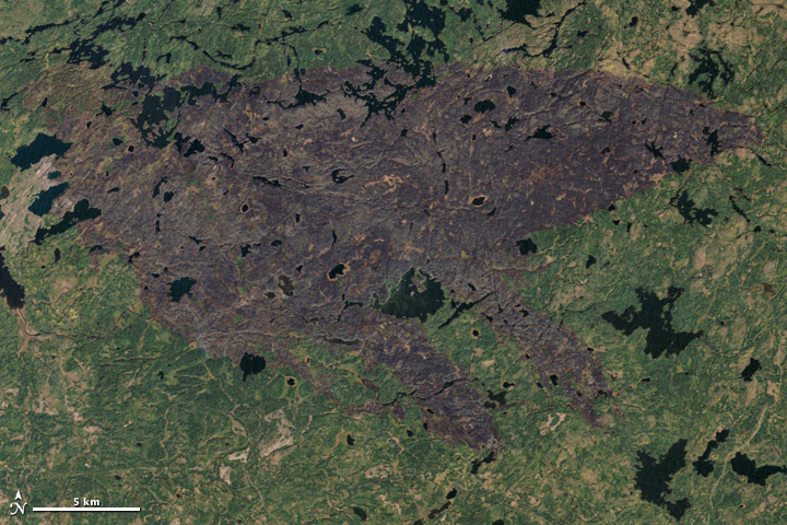 Burn scar from fires in Minnesota