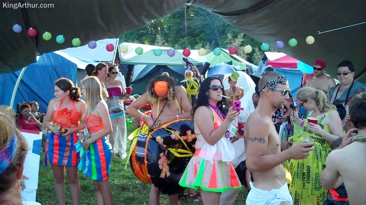 Philadelphia Folk Festival 2012 Camping Costume Setup 4