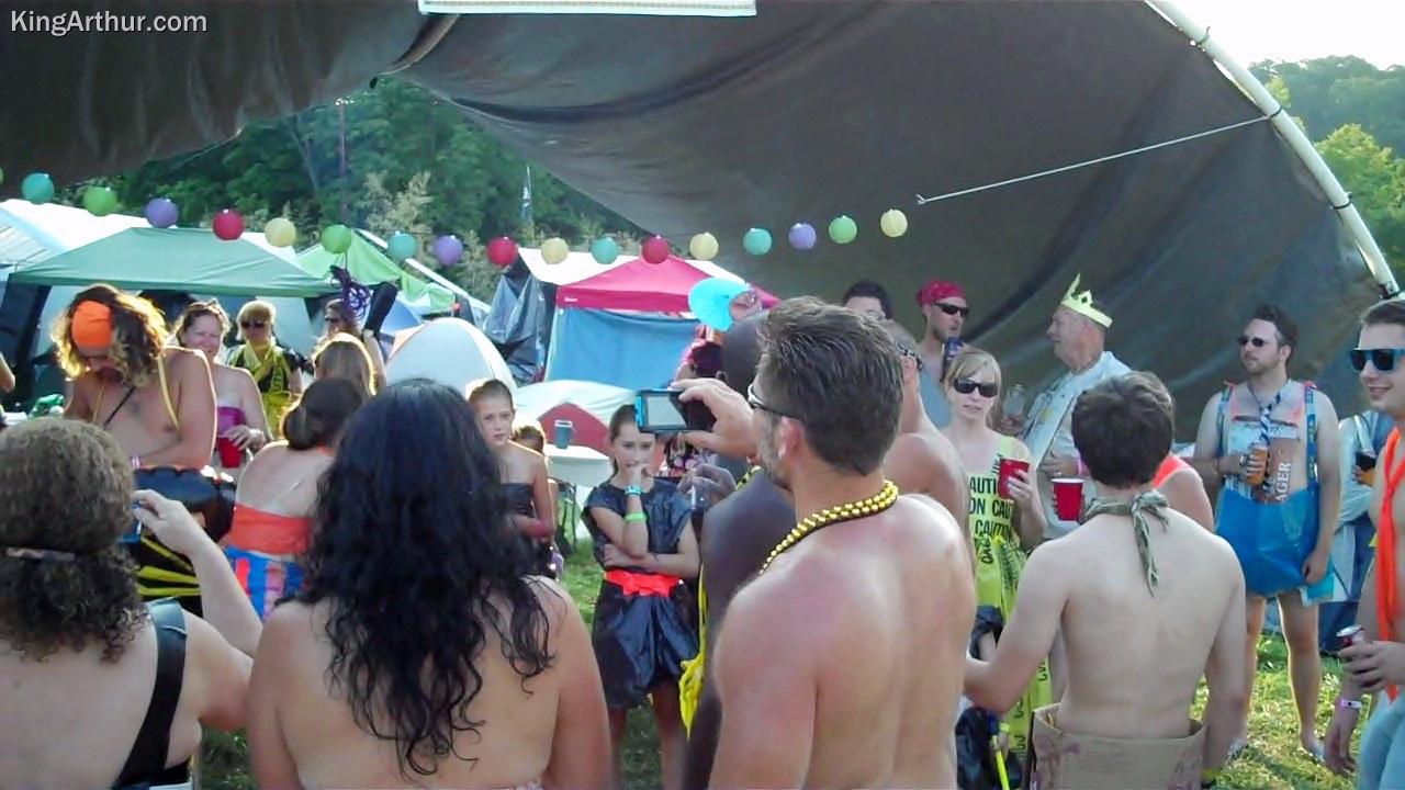 Philadelphia Folk Festival 2012 Camping Costume Setup 8