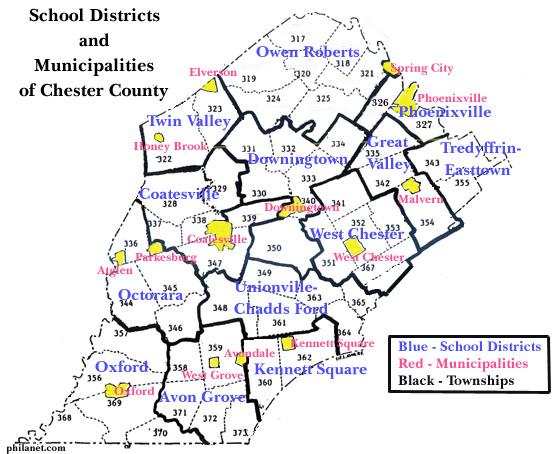 Chester county school districts parochial schools private school districts of chester county pennsylvania altavistaventures Gallery