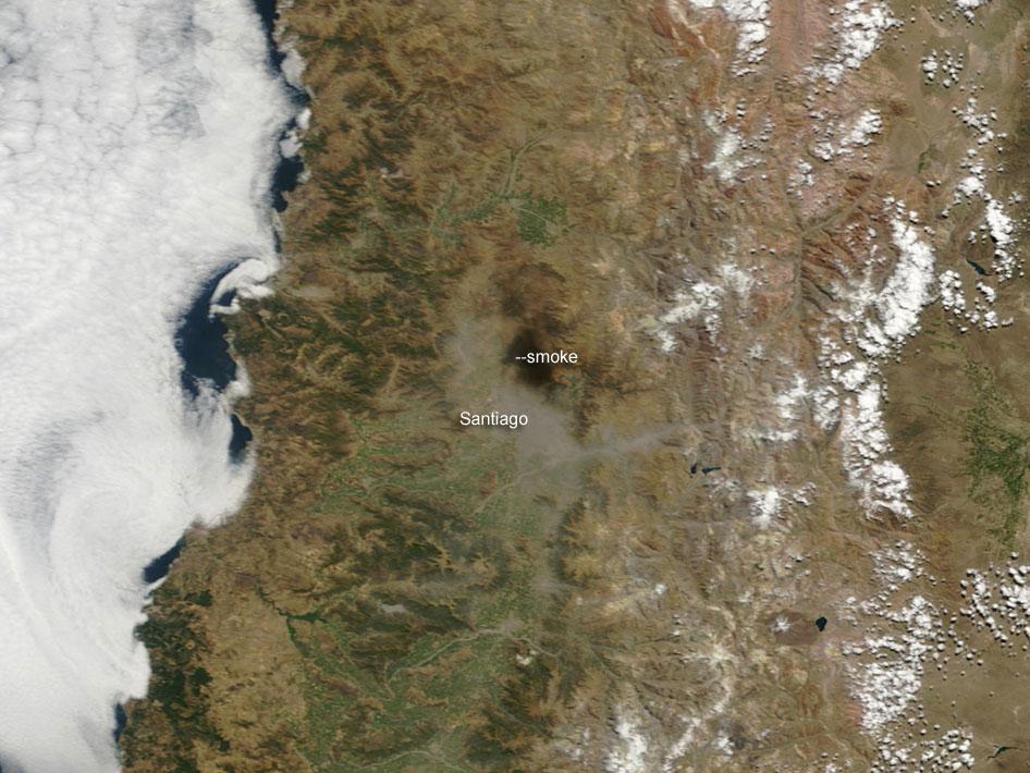 Earthquake Leaves Haze Over Santiago Chile