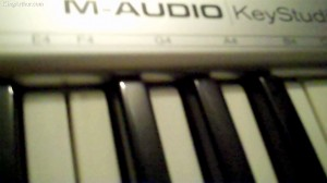 Sample Keyboard from the Recording Studio