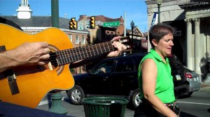 Daniel Brouse Playing Guitar on the Streets of West Chester