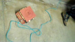 Cigar Box Amplifier Donated to Occupy Philadelphia Music Committee