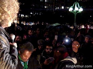 Angela Davis from Occupy Oakland gives a speech at Occupy Philly
