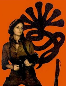 Patty Hearst in a Symbionese Liberation Army publicity photo