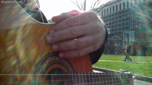 Writing the Song *Don't Give Up* Beside the Liberty Bell, Independence Hall and the Constitution