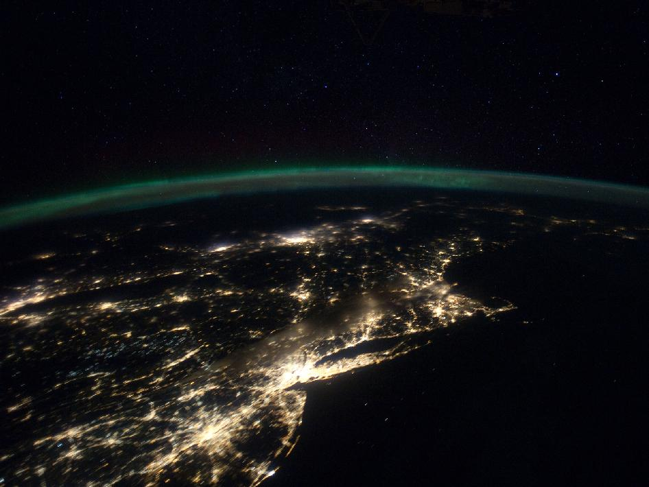The East Coast of the United States from Space