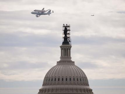 Space Shuttle Rides a Jet to the Air and Space Museum